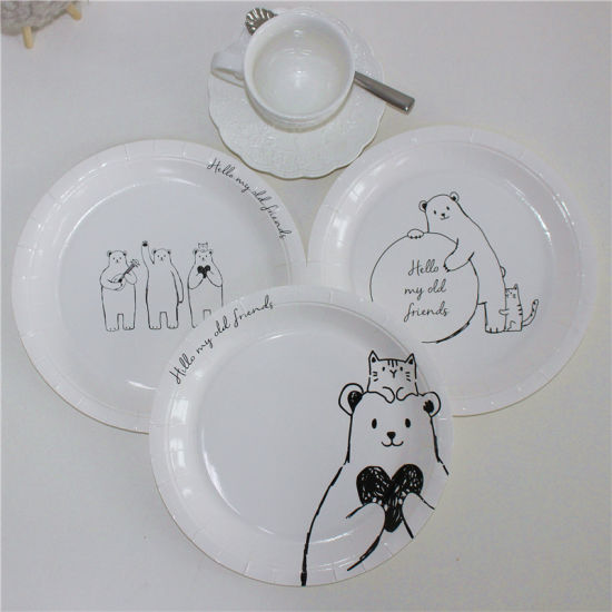2017 New Design Cute Bear Printing of Paper Plate & China 2017 New Design Cute Bear Printing of Paper Plate - China ...