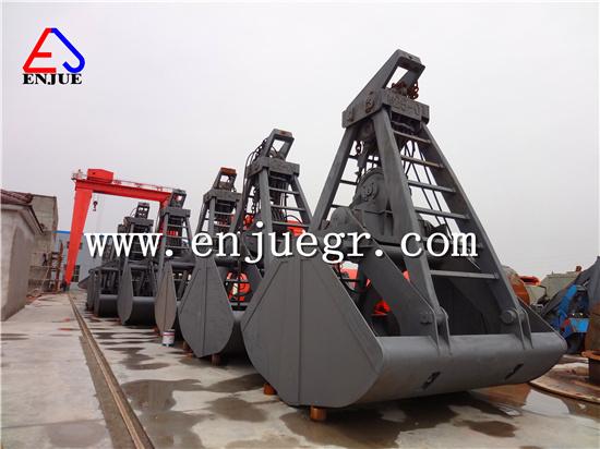 China Single Line Doubel Scoop Grab Bucket for Handing Cargo