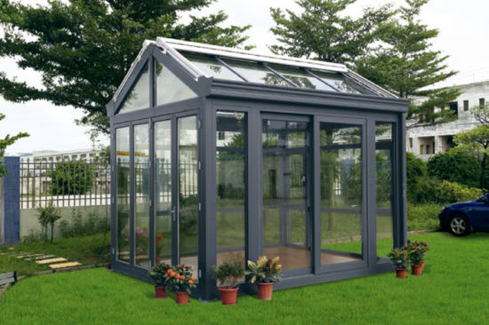 Customized Style Top Quality Tempered Glass Aluminum Prefabricated Sunroom pictures & photos