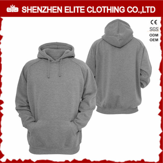 963e39563 High Quality Custom Plain Grey Hoodies Wholesale (ELTHI-34) pictures &  photos