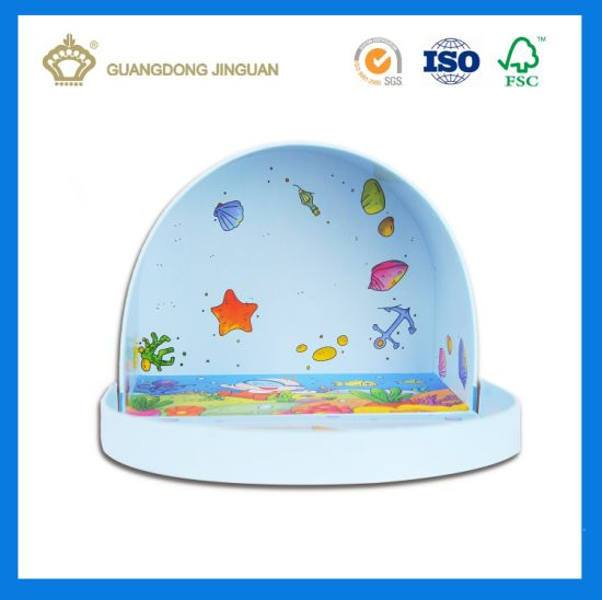 Hot Sale Semi-Circle Cardboard Box with Printing (with PVC window and drawer) pictures & photos