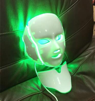 Red Blue Yellow Green LED Light Therapy Face Lifting Mask Facial Massage