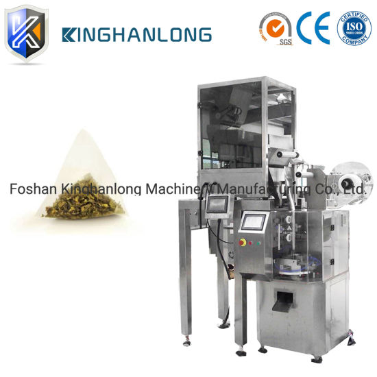 Nylon Pyramid Filter Tea Bag Machine with Line and Label