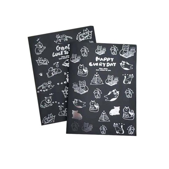 School Sliver Stamping Exercise Book for Student