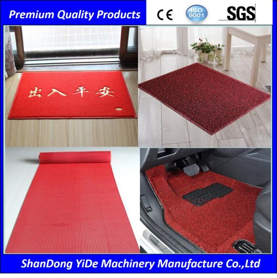PVC Double Color Sprayed Wire Coiled Coil Door and Car Foot Mats  sc 1 st  Shandong Yide Mechanical Manufacturing Co. Ltd. & China PVC Double Color Sprayed Wire Coiled Coil Door and Car Foot ...