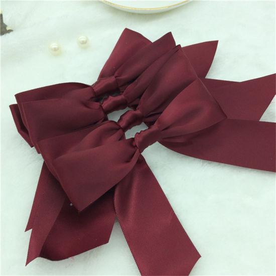 China Make Printing Satin Ribbon Bow for Coffee Box
