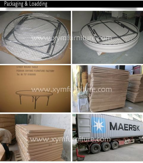 Wholesale White Plastic Folding Round Tables pictures & photos