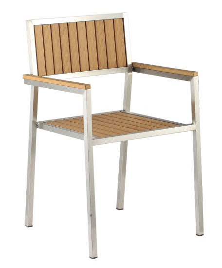 Poly Wood 304# Stainless Steel Garden Dining Chair