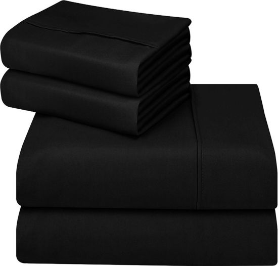 Ebay Hot Ing Plain Color Microfiber Fabric Bed Sheets