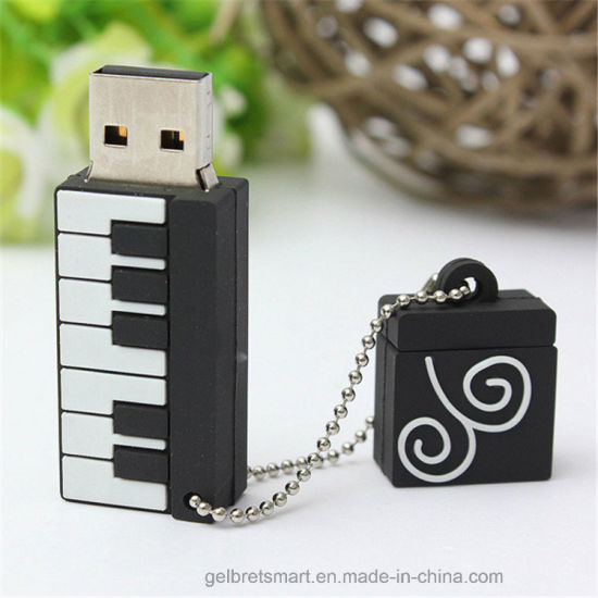 Wholesale 3D Silicone Piano USB Flash Drive for Promotional Gift pictures & photos