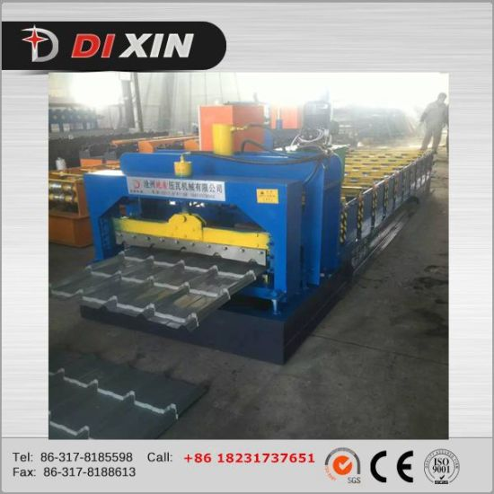 Dx Color Glazed Steel Tile Roll Forming Machine pictures & photos