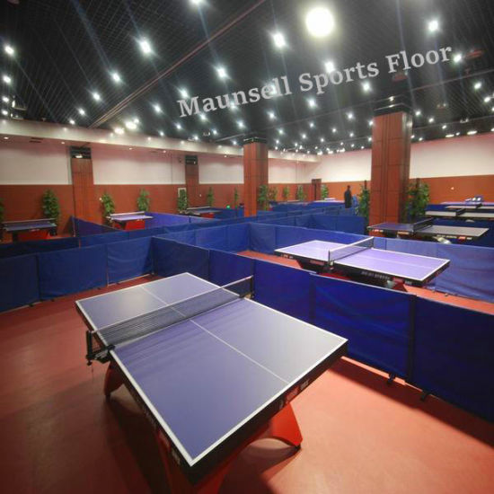 PVC Indoor Sports Floor with Ittf Standard Used for Table Tennis Courts pictures & photos