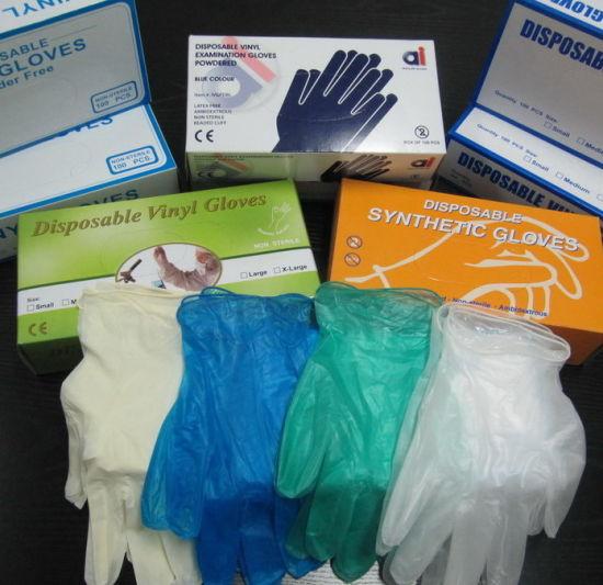Disposable Working Powdered Powder Free Examination Vinyl Gloves