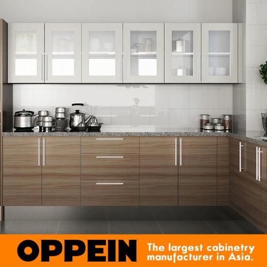 China Oppein Hot Sale Kenya Project Melamine Wooden Kitchen Cabinets Op15 M04 China Kitchen Cabinets Wooden Kitchen Cabinets