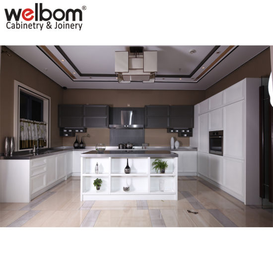 China Welbom Best Selling Simple Oak Solid Wood Kitchen Cabinet China Kitchen Cabinet Simple Design Kitchen Cabinet