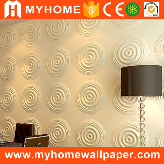 China guangzhou low price 3d pvc wall panels unique design for 3d wallpaper waterproof