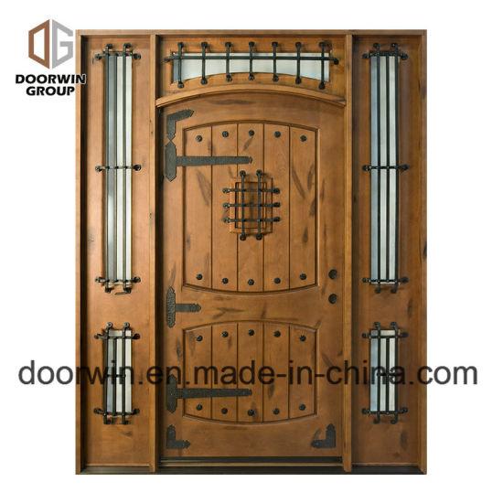 Top Iron Clavos Design Antique Arched Doors Wood Exterior Doors for a House  sc 1 st  Beijing Doorwin Window u0026 Door Co. Ltd. & China Top Iron Clavos Design Antique Arched Doors Wood Exterior ...