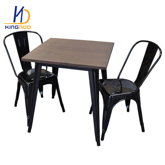 Industrial Style Dining Chairs UK Home Metal Chic Bistro Cafe Side Wood  Seat Black Bronze Set Furniture Australia Tolix Chair