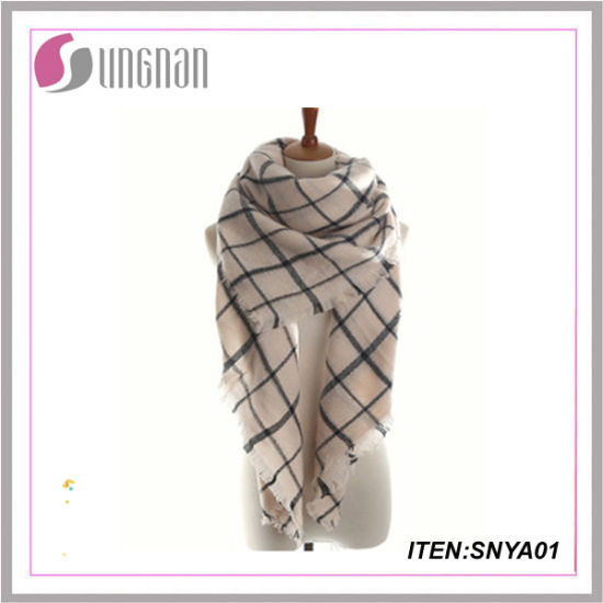 New Style Hot Sell Pashmina Scarf Cashmere Scarf Tartan Scarf