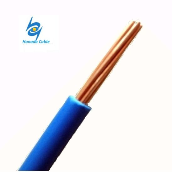 China 600V 6 4 2 AWG Copper Conductor PVC Insulated Thw Tw Electric ...