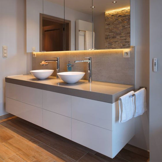 Whole Directly Factory Bathroom Vanity On Top Double Basins