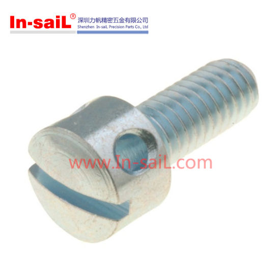 China Cap Head Socket Screw With Hole China Round Slotted Head Bolt Stainless Steel Bolt