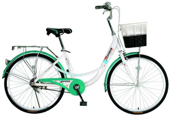 "Cheap with Fine Quality 24""Steel Frame Fair Lady City Bike"