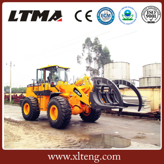 Ltma 8 Ton ATV Grapple Sugarcane Loader with Log Grapple pictures & photos