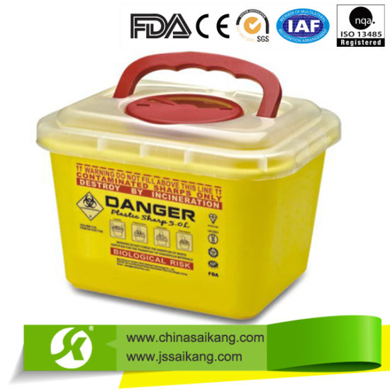 Hospital Plastic Sharps Containers pictures & photos