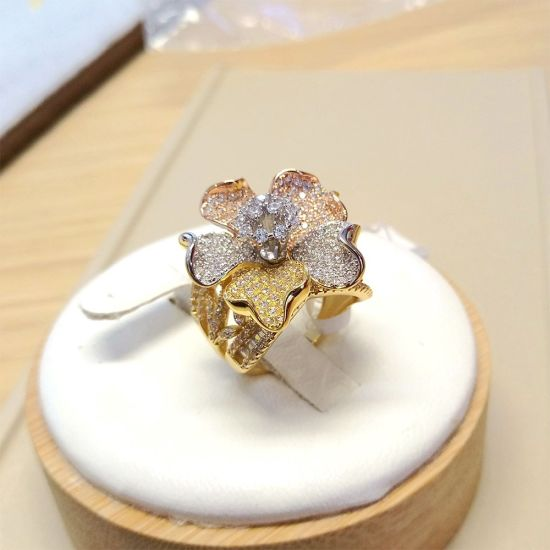 Young Ladies Simple Ring Valentines Day Gift Dubai Gold Finger Ring