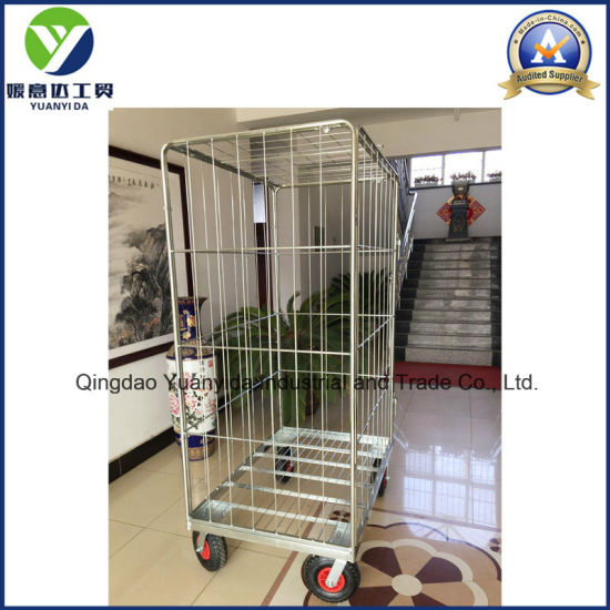 10′′gas Wheel Zinc Plated Roll Containers/Hand Trolley/Roll Cages pictures & photos