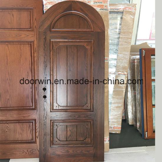 North America Style Solid Oak Wood Doors