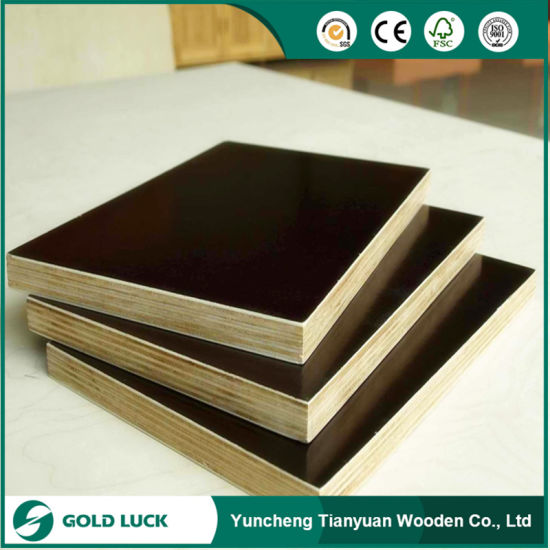 1220 X 2440mm Black Film Faced Shuttering Plywood Veneer pictures & photos