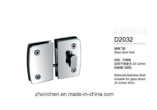 Xc-D2032 High Quality Furniture Hardware Glass Door Lock pictures & photos