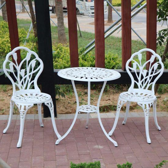 Fendias 5PC Outdoor Patio Bistro Cast Aluminum Dining Set