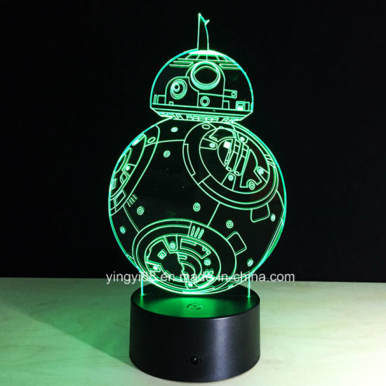 Wholesale 3D Night Light Lamp Acrylic Star Wars Bb-8 Gift Originality Home Decoration pictures & photos
