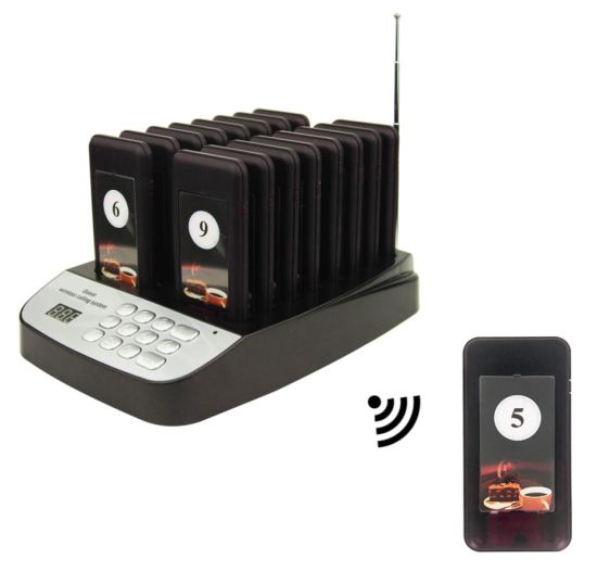 CTP301 Hotsale Coaster Pagers/Paging Systems for Restaurant/Wireless Pagers on Sale