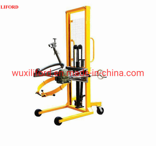 450kg Hand Cranking Hydraulic Drum Lifter 180 Degrees Rotation