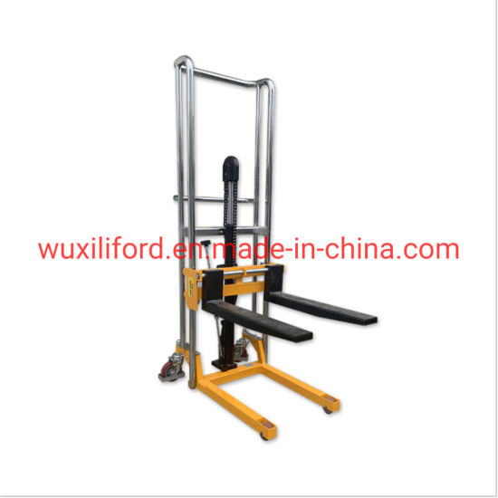 400kg Manual Hydraulic Jack Hand Pallet Stacker /Oil Drum Stacker Pj4120