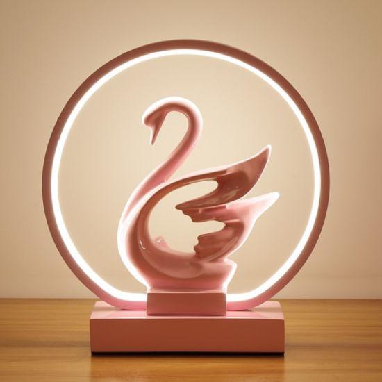 LED Desk Lamp Creative Bedroom Bedside Lamp Wedding Gift Wedding Room Gift Study Small Night Light Romantic Swan