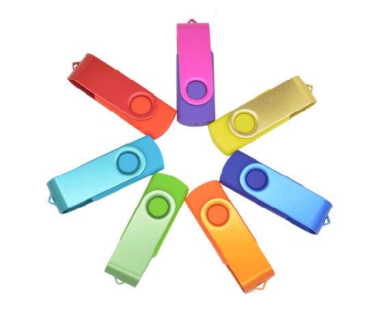 Metal Rotating Gift U Disk 32GB 64GB USB Flash Drive/USB Flash Drive/USB Flash Memory/Memory Card/USB Pen Drive