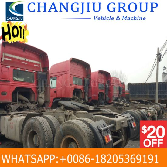 Used HOWO Tractor Truck Tractor Head Right Hand Driving 290/336/371/420HP  Prime Mover Sinotruck Tractor Head Trucks for Sale in Africa