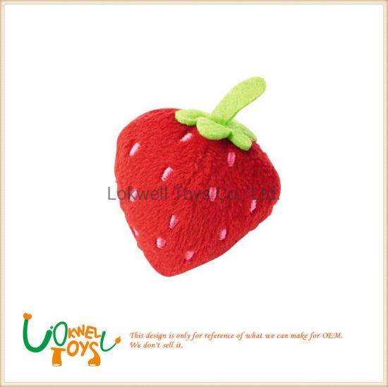 Custom Soft Stuffed Strawberry Toy Plush Fruit Cushion for Decoration