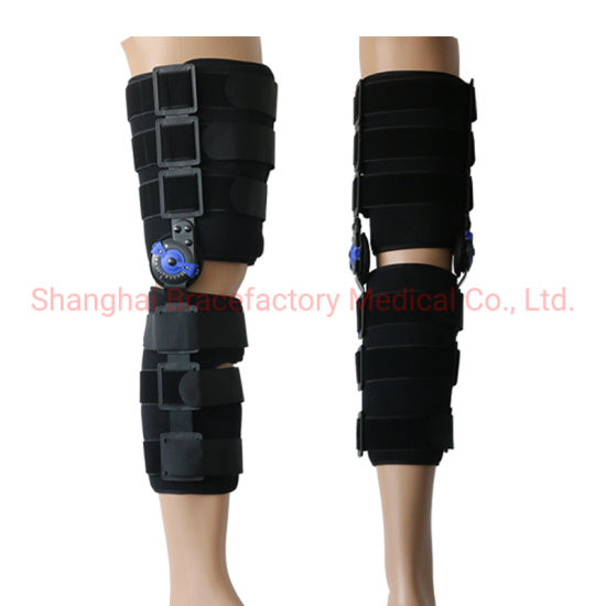 Hinged ROM Knee Support Brace Motion Control Orthosis for Knee Injury Recovery and Knee Burden Relief
