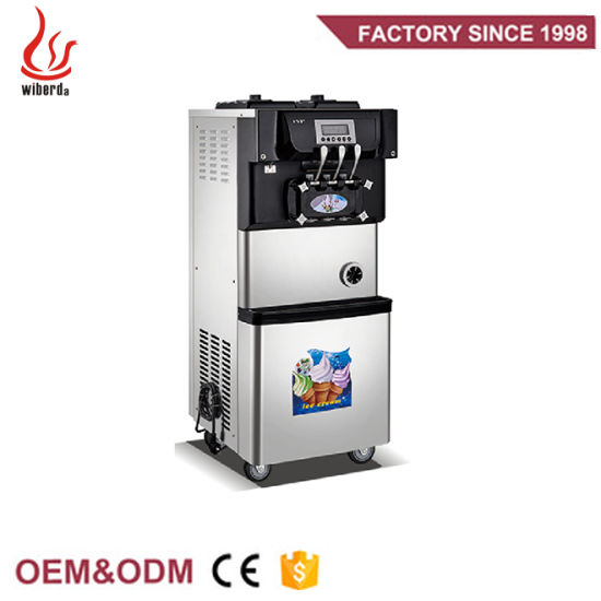 Factory OEM Pre-Cooing 3 Flavor Soft Serve Ice Cream Machines in Guangzhou