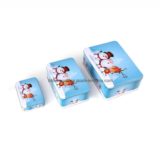 Retangle Cake and Cookie Candy Packaging Tin Box