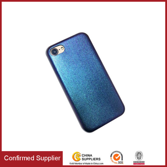 Sparkle Gradual Color Changing Customized PU Cell Mobile Phone Case