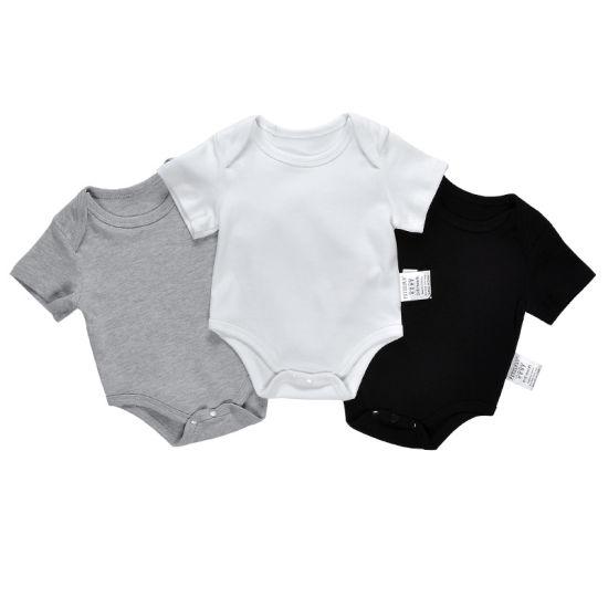 Bkd Custom Baby Onesie Plain Summer Blank Baby Bodysuit