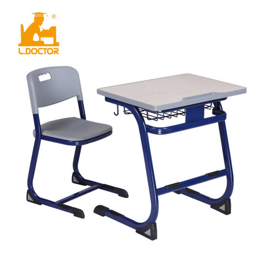 High Quality MDF Top School Desk and Chair with BIFMA