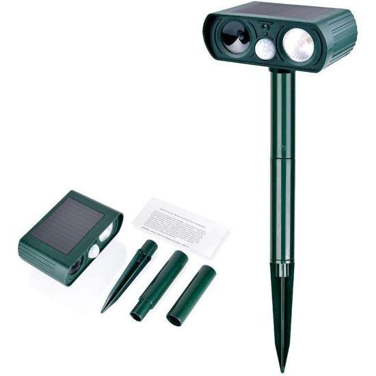 Solar Garden Lights Pest Repeller Dog Cat Repeller, Ultrasonic Animal Repeller with Motion Sensor